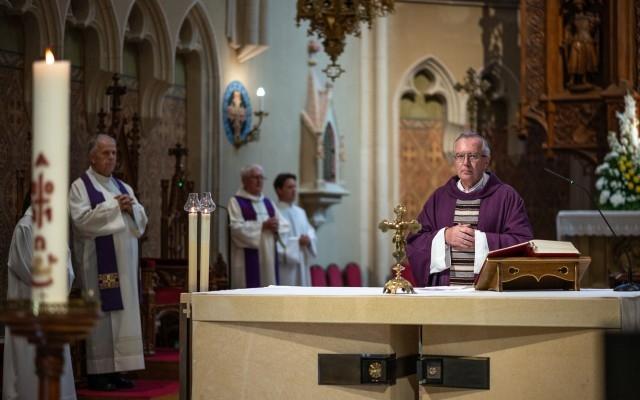 Andrássy Péter temetési miséje